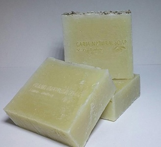 3 x CARIA Extra Creamy Lavender Pine Olive Oil Soap Bar with Coconut Oil Cocoa Butter Handmade Natural Vegan Shampoo Face Body by Caria Handmade Soap