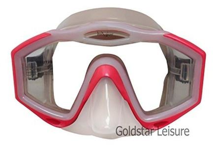 Body Glove Women's Lucent Single View Tempered Lens Mask - Pink Two Tone by Body Glove