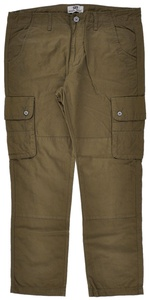 Mens Chino Cargo Pants Stone Military Olive