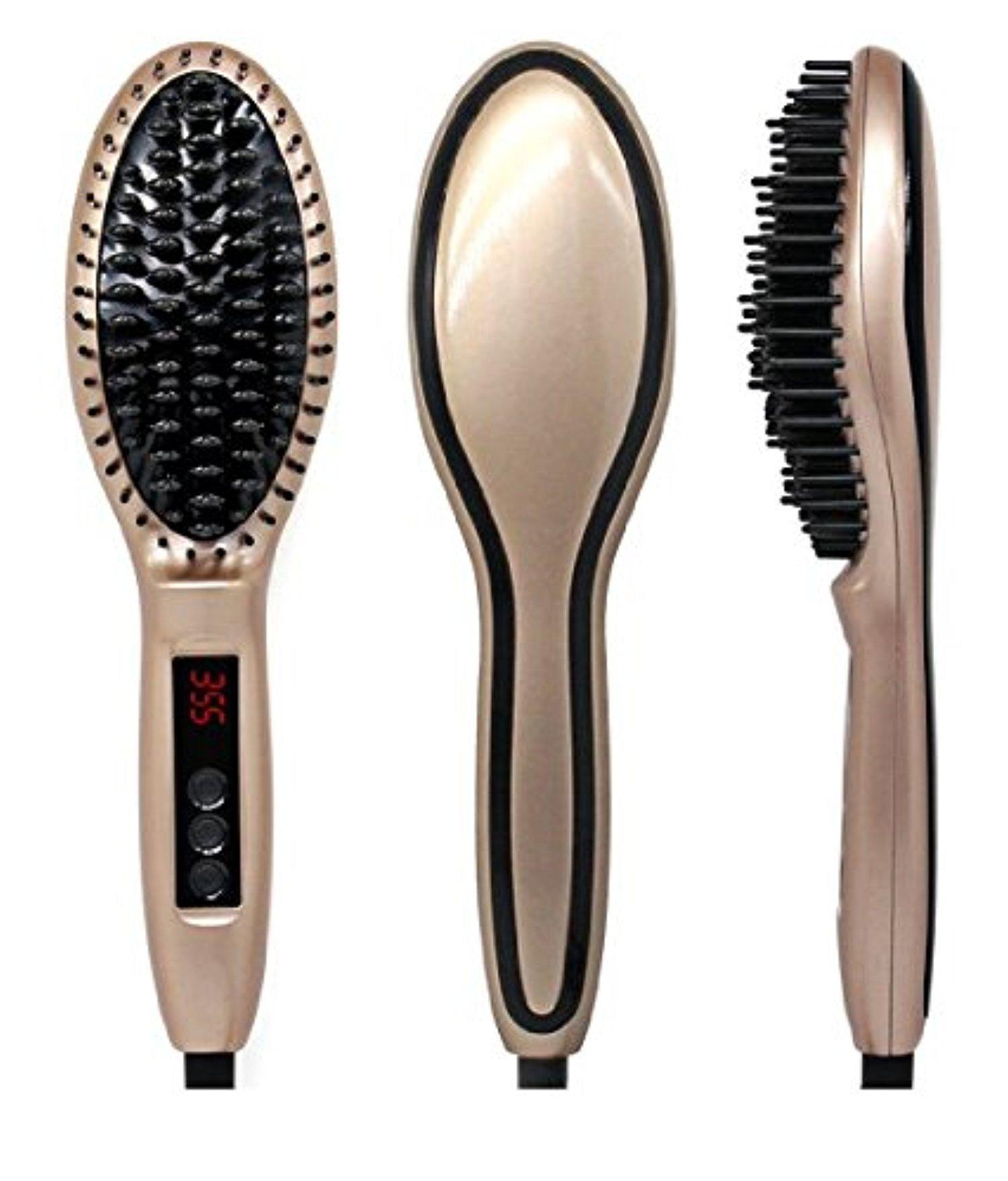 Hair Straightener,Hair Massage Professional Detangling Hair Brush Brush Magic Silky Straight Hair Styling Anion Hair Care Anti Scald Zero Damage
