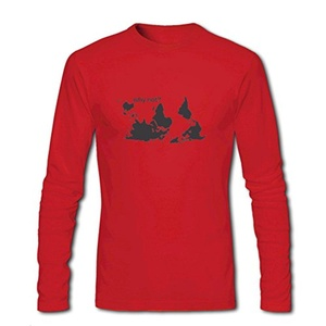 Why Not for Men Printed Long Sleeve Cotton T-shirt