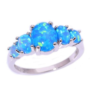 FT-Ring Blue Fire Opal Jewelry Wedding Ring For Women Engagement Wedding Bridal Rings (11)
