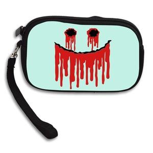 Claudia Fashion Women Girl Zipper Cute Purse Blood Face Card Holder Mini Handbag