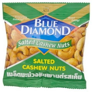 Blue Diamond, Salted Cashew Nuts, 35 g (Pack of 6 units)
