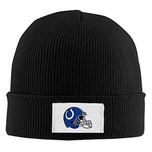 Indianapolis Colts Football Helmets Logo Beanie Hats For Men Women Black (4 Colors)