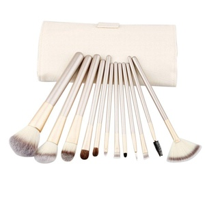 Baomabao 12pcs Makeup Brushes set Fondation Eyeshadow Cosmetic Tool with Leather