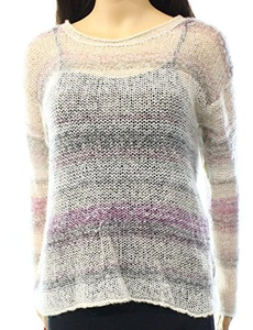 Two by Vince Camuto Small Printed Scoop Neck Sweater