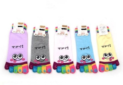 3 Pair Women Five Fingers Trainer Toe Ankle Socks (Smile) by Sell D Best