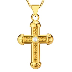 Fashion Cross Pendants Women or Men 18K Gold Plated Charm Jewelry Gift Necklaces Pendants P30092