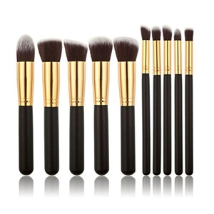 idel-Promo- 10 pcs Makeup Brush Set Premium Synthetic Kabuki Cosmetics Foundation Blending Blush Eyeliner Face Powder Brush Makeup Brush Kit
