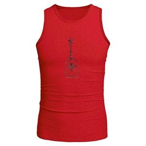 GUITAR for Men Printed Tanks Tops Sleeveless T-shirt