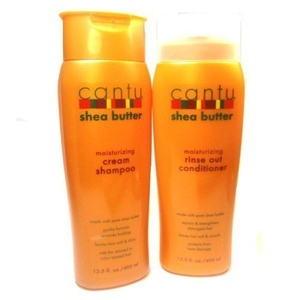 Cantu Moisturizing Cream Shampoo 13.5 Oz & Moisturizing Rinse Out Conditioner 13.5 Oz by Cantu Shea Butter