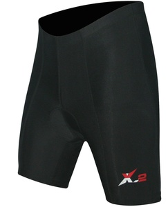 X-2 Men's Bicycle Biking 3D DI-Molded Padded High Waist Cycling Shorts 6 Panel