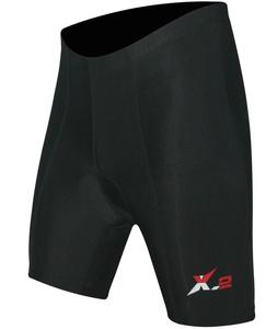 X-2 Men's Bicycle Biking 3D DI-Molded Padded High Waist Cycling Shorts 6 Panel