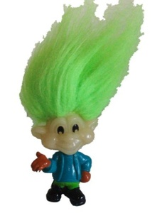 Glow in the Dark Troll Burger King Rugrat Jaws with Green Hair by Glow In The Dark