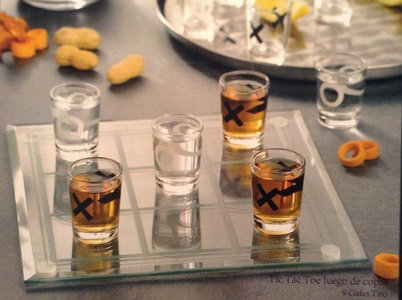 Game Night Tic Tac Toe Drinking Shot Glass Set