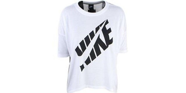 Nike Prep Top Athletic Tee (L, White/Black)