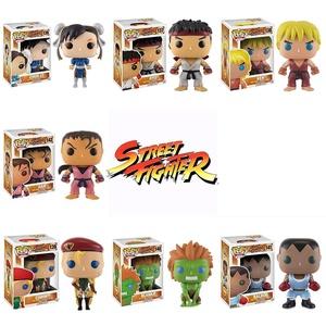 Pop!: Street Fighter OGs Ryu, Ken, Chun-Li, Cammy, Blanka, Balrog, Dan! Vinyl Figures Set of 7