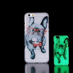 Pug Pattern Glow in the Dark Hard Case for iPhone 6 Plus ( Compatible Models : IPhone 7 Plus )