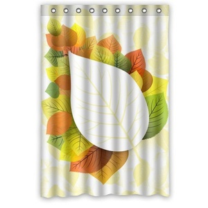 Creative New Design 100% Waterproof Mildew Polyester Fabric Shower Curtains - Custom Clear And Bright Color Leaves Shower Curtain 48