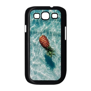 Samsung Galaxy s3 Case, LEDGOD Fashionable Gift DIY Pineapple Black Cover Phone Case for Samsung Galaxy s3 Shell Phone.