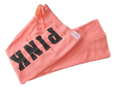 Victoria's Secret PINK Flare Pant Sweatpants, Neon Large