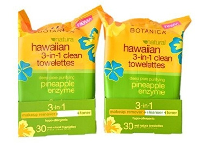 Alba Botanica Hawaiian 3-in-1 Clean Towelettes 30 Count (Pack of 2) by Alba Botanica