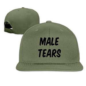 Male Tears Snapback Flat Bill Cap Adjustable