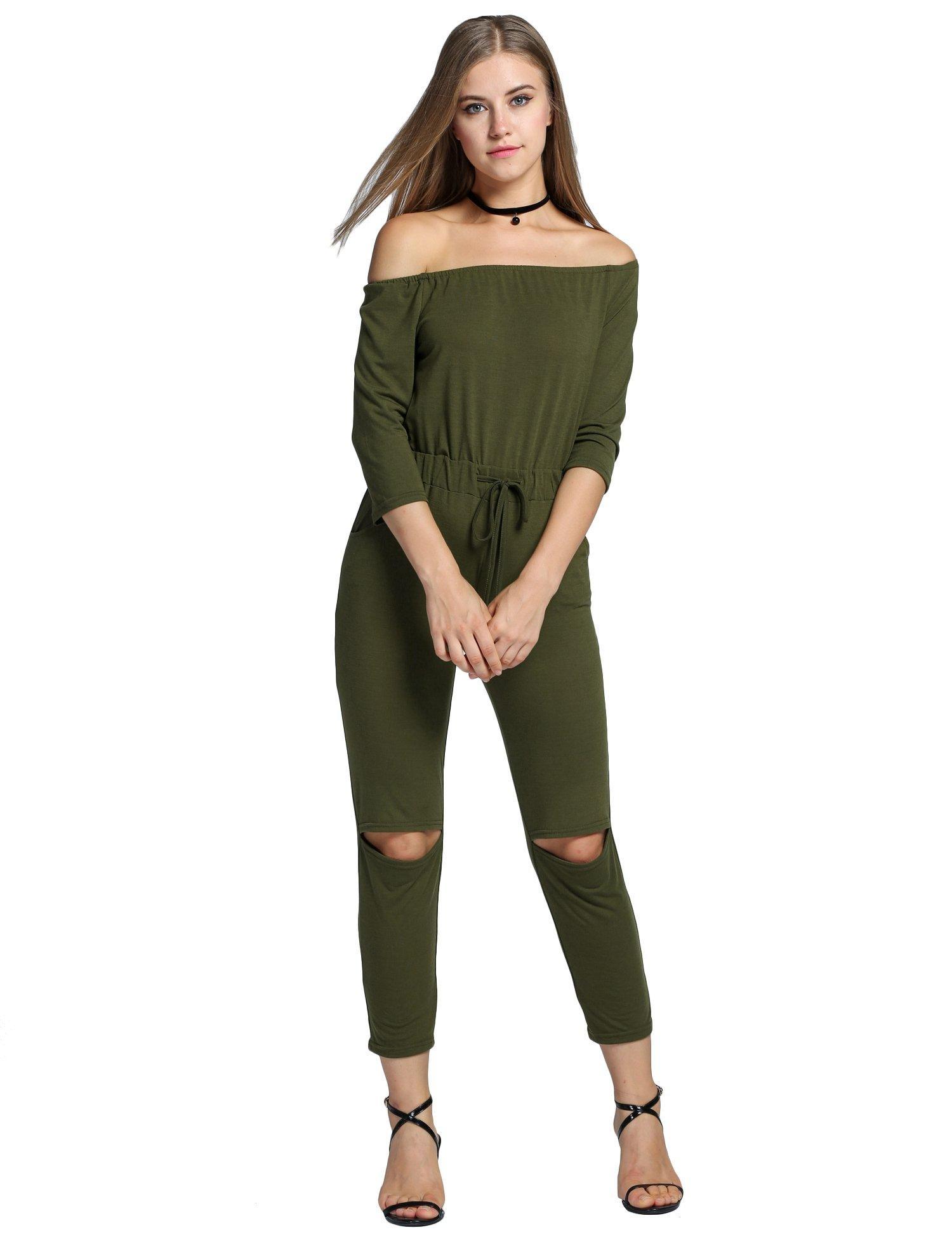 014ecbdb613 Online Store  Kize Women Long Sleeve Sexy Clubwear Drawstring Jumpsuit  Rompers Plus Size