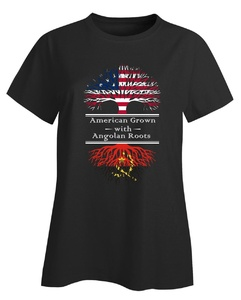 American Grown With Angolan Roots Great Gifts Angola - Ladies T-shirt