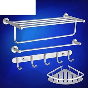 Space aluminum Towel rack/Bathroom racks/Bathroom hardware accessories set-D