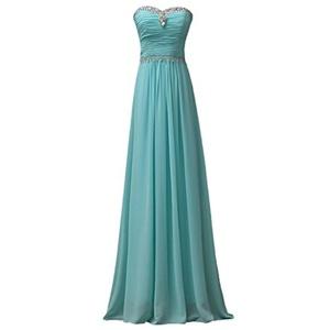 Umanak Fancy Women's Plus Size Bridal Gown Handmade Gemstone Strapless Long Dress Aqua12