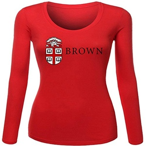 Brown University for Women Printed Long Sleeve Cotton T-shirt