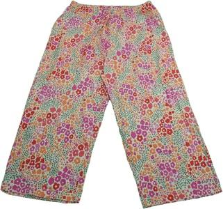 June & Daisy Ladies Size Small Capri Pajama Pants Pink/Orange/Gray Floral