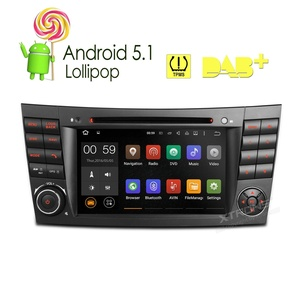 XTRONS 7 Inch Quad Core Android 5.1 Lollipop Car Stereo Capacitive Touch Screen DVD Player Screen Mirroring OBD2 Built-in DAB+ Tuner Tire Pressure Monitoring for Mercedez-Benz E-Class W211/W219