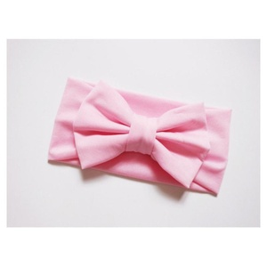 Newest Kids Girl Baby Headband Toddler Lace Bow Flower Hair Band Accessories Color:#7 Pink