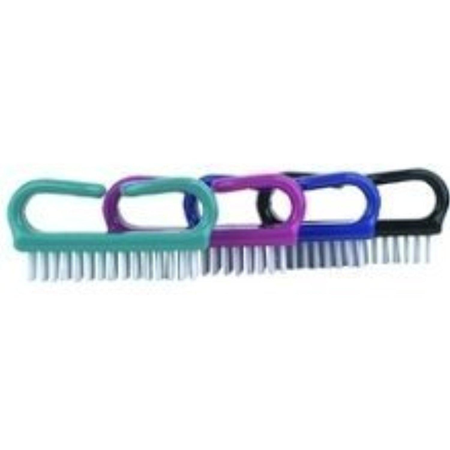Deluxe Handle Nail Brush (Pack of 6) by J & D Beauty Products