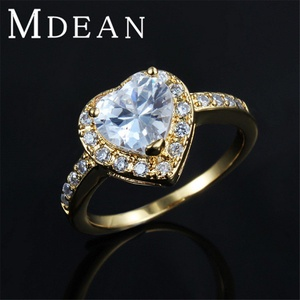 delatcha Jewelry Heart Wedding Ring Engagement Jewelry Zircon Gold Plated Bague vintage elegant accessories