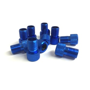 Contrast Presta to Schrader Valve Bike Pump Adaptor - Blue (Pack of 10)