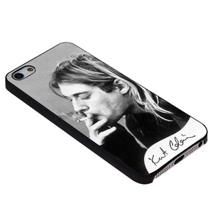 Kurt cobain smoking black and white for iPhone Case