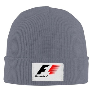Formula Racing F1 Unisex Fashion Asphalt Wool Winter Knit Hats One Size