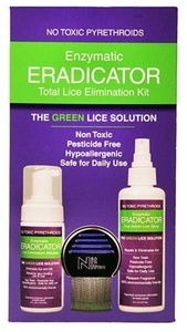 Lice & Nit Elimination ERADICATOR Kit, Natural Solution 3 Products with Terminator Lice Comb by ERADICATOR by ELFbrands