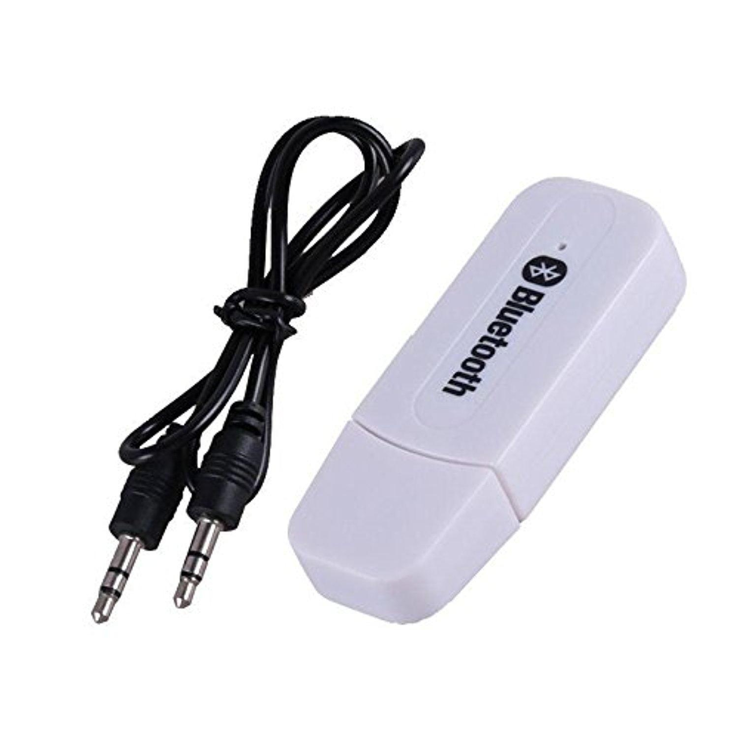 Kobwa Mini 3.5mm Stereo Audio Music Speaker USB Bluetooth Wireless Receiver Adapter for Home/Car Audio Stereo System