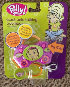 2004 Polly Pocket Electronic Talking Boombox