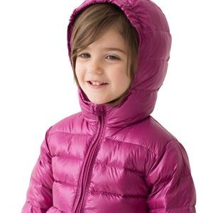 marc janie Baby Toddler Girls' Lace Hem Hoodie Lightweight Down Puffer Jacket Purple 4T