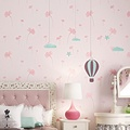 FEI&S An idyllic romantic non-woven cloth 3D stereoscopic embossing wallpaper lily bedroom living room wall ,GR26-162 children's room light purple ,0.539.5 m