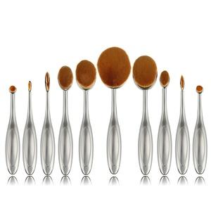 Makeup Brushes, QJ 10 Pcs / Set Toothbrush Style Eyebrow Brush Foundation Eyeliner Make Up Brushes Face Cleaning Tools