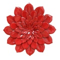 Stratton Home Decor S01864 Layered Flower Wall Decor, Red