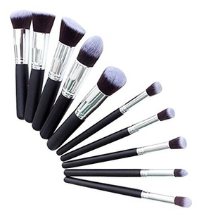 10pcs Make Up Brush Sets Ukelove Foundation Face Lip Eye Makeup Professional Pro HQ Brush Cosmetic Set Make up Brushes Blending Eyeshadow Eyebrow Foundation Shadow Powder Cosmetics Tools Kit Synthetic Bristles For Powder, Blush, Concealer by Ukelove
