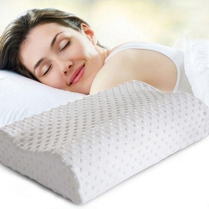 Slow Rebound Memory Foam Pillow Neck Washable Soft Cervical Healthcare Pillows, White